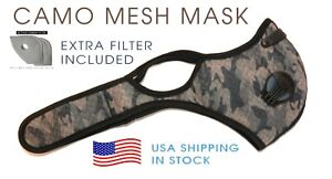 Camouflage Mask With Extra Filter Cycling Face Shield Fast Free Usa Shipping