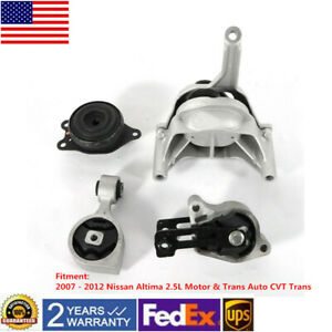 For 2007 2011 2012 Nissan Altima 2 5l At Cvt Trans Engine Motor Trans Mount Set