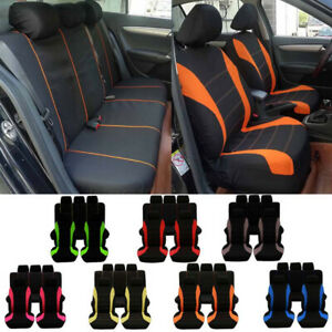 3 Row Car Seat Cover Set For Suv Minivan W Headrests Universal Auto Seat Covers