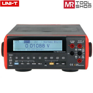 Uni t Ut805a Bench Top Multimeter Auto T rms Dmm 200000 Counts Data Hold Rs 232