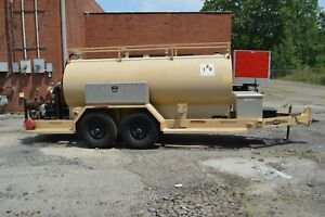 1000 Gallon Rds Field Pup Fuel Boy Trailer W Hatz Diesel Motor