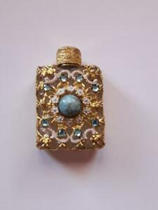 Vintage Old Beautiful Miniature Perfume Bottle Art Nouveau