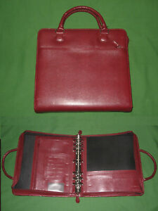 Monarch 1 75 Red Faux Reptile Leather Franklin Covey Planner Binder Organizer