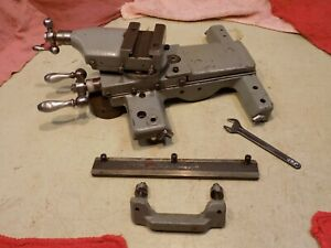 Logan 10 Lathe Cross compound Slide Assembly Complete With Brackets And Wipers