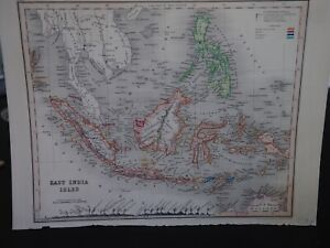 Antique Map East India Isles