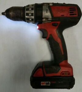 Milwaukee Hammer Drill Driver 1 2 Cordless 2602 20 Red Lithium M18 Nice Tool