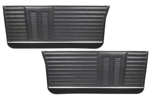 1964 Gto Lemans Coupe Black Front Door Panels By Pui