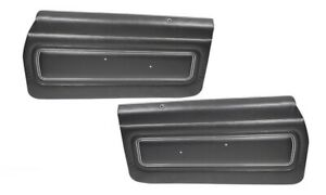 1971 Gto Lemans Sport Coupe Black Front Door Panels By Pui
