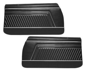 1970 Gto Lemans Sport Coupe Black Front Door Panels By Pui
