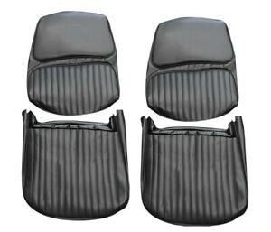 1968 Skylark Custom Gs 350 Gs 400 Black Front Bucket Seat Covers By Pui