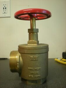B h 2 1 2 Fire Hose Valve Angle Female Npt X Male Nst