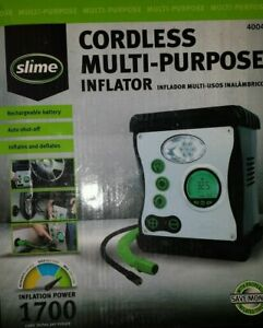 New Slime 40028 Rechargeable All purpose Tires And Rafts Cordless Inflator