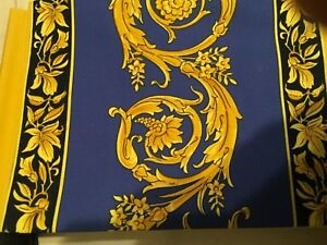 300 Versace Medusa Blue Pillow Case For King Bed New Discontinued Rare 1