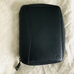 Franklin Covey Pocket Planner Black Leather Binder Agenda Organizer Space Maker