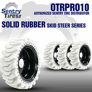 12x16 5 Non marking Solid Skid Steer Tires 4 Tires W Wheels 33x12 20 For Bobcat