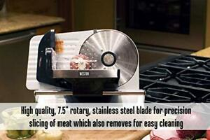 Electric Meat Slicer Stainless Steel Deli Cheese Cutter Food Machine Heavy Blade