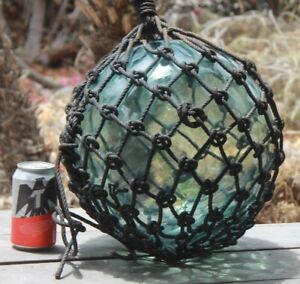 Large Signed Ff Vintage Japanese Blown Glass Fishing Float Buoy 40 Tiki Bar