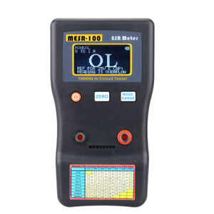 Lcd Professional Auto ranging Capacitor Esr Meter 100khz In Circuit Tester R3w5