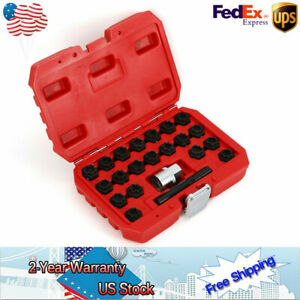For Audi Locking Wheel Rim Lug Nut Master Installer Remover Set 22pc Easy To Use