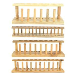 6 8 10 12 Holes Wooden Test Tube Storage Holder Bracket Rack W Stand Sticks