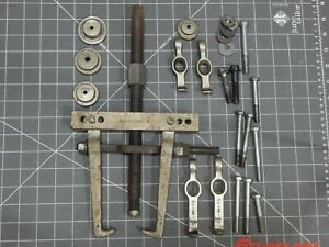 Snap On 2 Jaw Leg Puller Set Cj85 7 Gear Pulley Pully Yoke Center Point Cj282 1