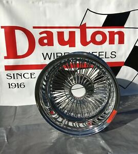New Dayton Wire Wheels 16 X 8 Chrome Reverse Offset 72 Spoke Set Of 4