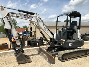 2014 Bobcat E35 Excavator 2 Speed Travel Only 1846 Hours Highly Maintained
