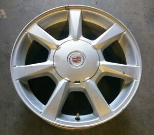 2008 2009 Cadillac Cts Wheel With Cap 17x8 Alloy 7 Silver Painted Oem