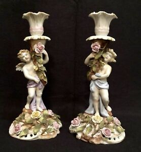 Dresden German Cherub Candleholders Offers Welcomed
