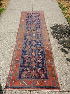 Antique Persian Tribal Runner Malayer Hamadan Nw Tribal 3ft By 9 5ft Shabby Chic