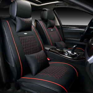 Us 5 Seat Car Leather Seat Covers Cushion Front Rear For Honda Accord Civic Xr V