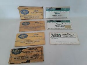 Absco Thermacote Green Diamond Welders Filter Plate Lot Of 7 Vintage