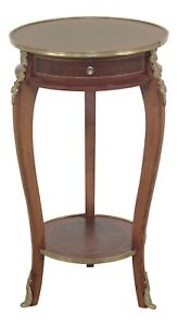 F47314ec French Louis Xv Style Round Tiered End Table