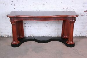 Ralph Lauren Neoclassical Flame Mahogany Console Or Entry Table