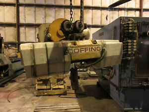 Coffing 2 Ton Wire Rope Hoist W Powered Trolley 230 460 Volts 3 Phase