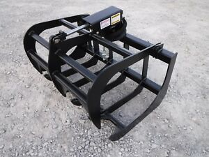 Tractor Skid Steer Attachment 48 Root Rake Grapple Bucket Free Ship