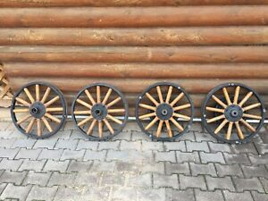 4 Wood Spok 21 Inch Diameter Ford Model T Front And Rear