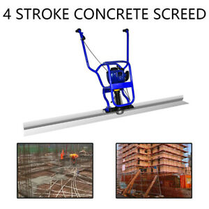 4 Stroke Gas Concrete Wet Screed Power Screed Cement 37 7cc 6 56ft Board