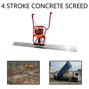 4 Stroke Gas Concrete Wet Screed 37 7cc Power Screed Cement 6 56ft Board