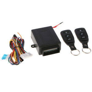 Car Vehicle Door Lock Keyless Entry System Remote Central Kit W Control Box