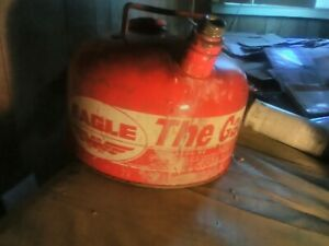 Vintage Eagle 2 1 2 Gallon 502 Galvanized Steel Metal Gas Gasoline Can Fuel Tank