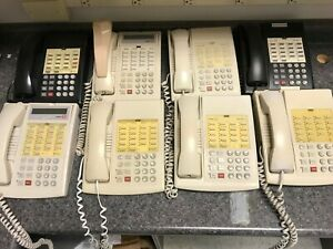 Avaya Lucent Partner 18 18d Business Phones Lot Of 8 Black And White