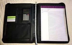 Executive Portfolio Binder Organizer Notepad Zipper By Foray 8 5 X 11 Euc