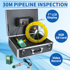 30m 7 lcd Sewer Updated Camera Pipe Drain Video Dvr Recording Inspection