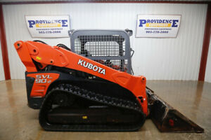 2013 Kubota Svl 90 2 Skid Steer Track Loader Orops 2 Speed High Flow