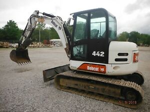 2004 Bobcat 442c Mini Excavator With Cab Ac heat 35 Bucket thumb 2760 2hrs