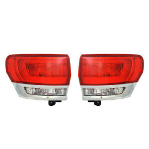 New Outer Tail Light Pair Fits Jeep Grand Cherokee Overland 2014 2015 68110017ae