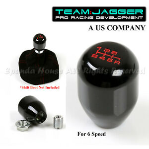 For Jeep Dodge M10 Threaded Type R Style 6 Speed Manual Gear Shift Knob Black