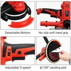 Durable 900w Variable Speed Electric Hand Held Drywall Sander W led Lights