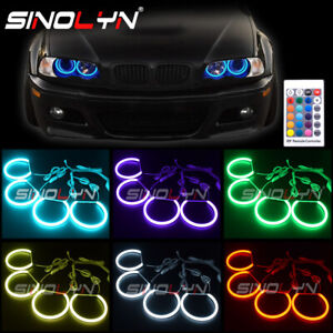 Rgb Led Cotton Angel Eyes Halo Rings Multi colors For Bmw E46 Chevrolet sierra